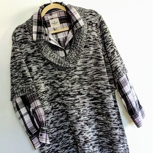3 for $30 NWT Tunic sweater with shawl collar